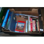 A box of books relating to aircraft, etc.