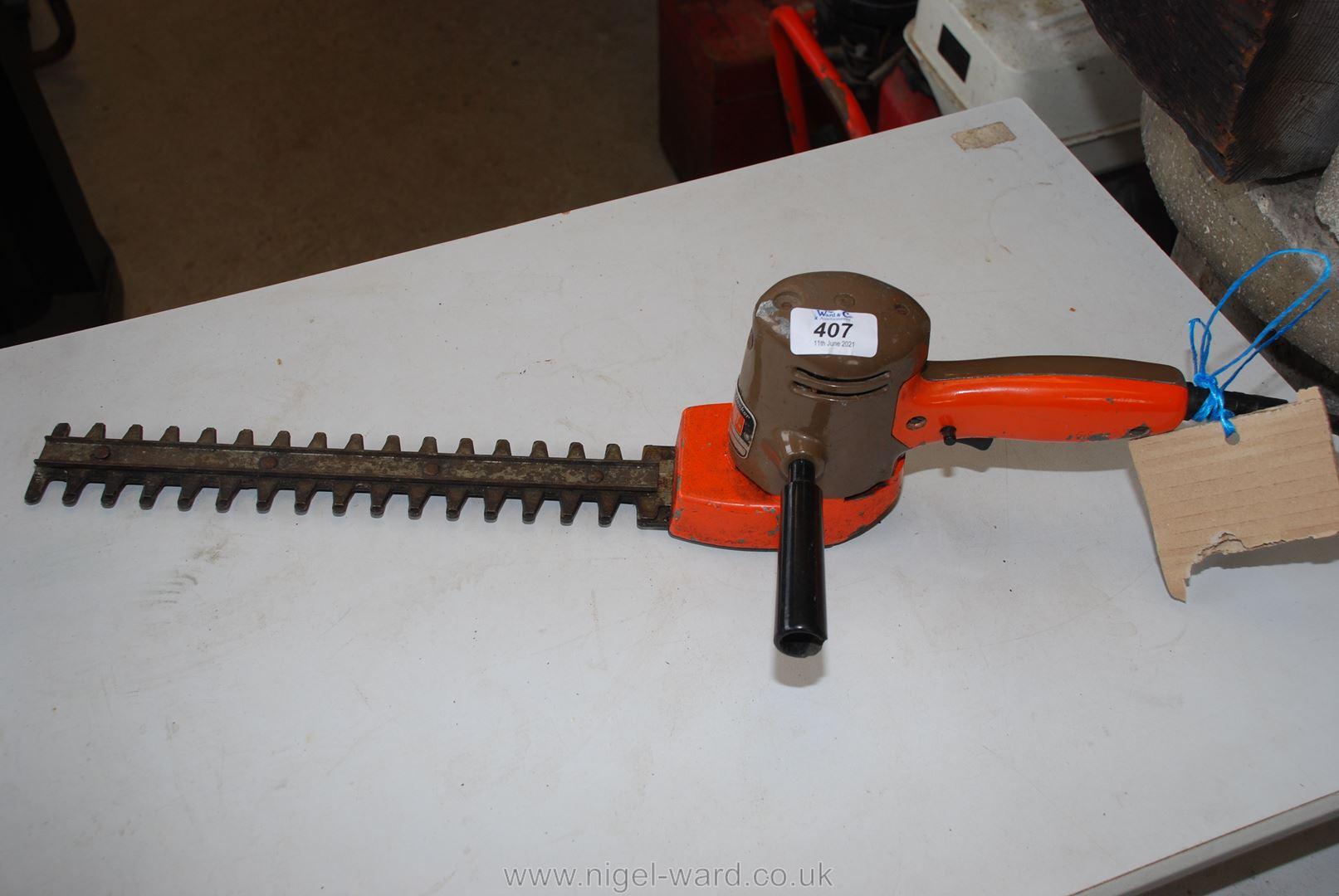 An old Black & Decker hedge cutter.