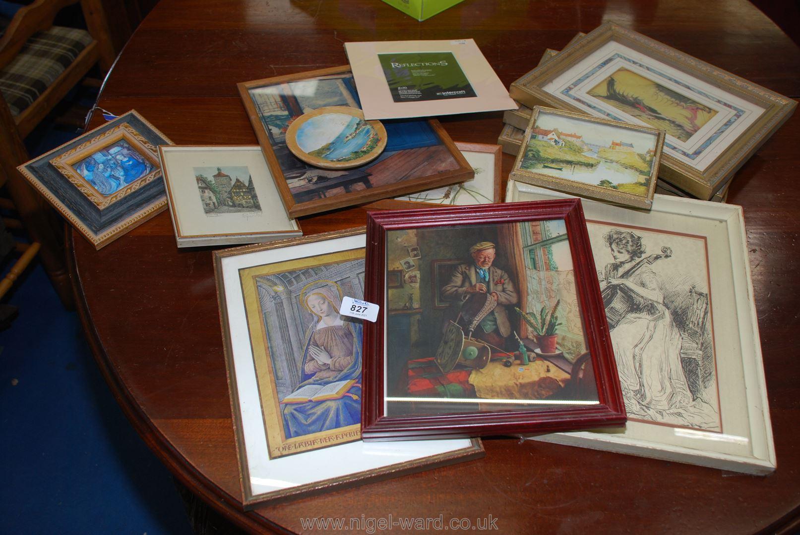 A quantity of various prints etc.