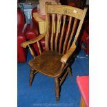 A Grandfather chair.