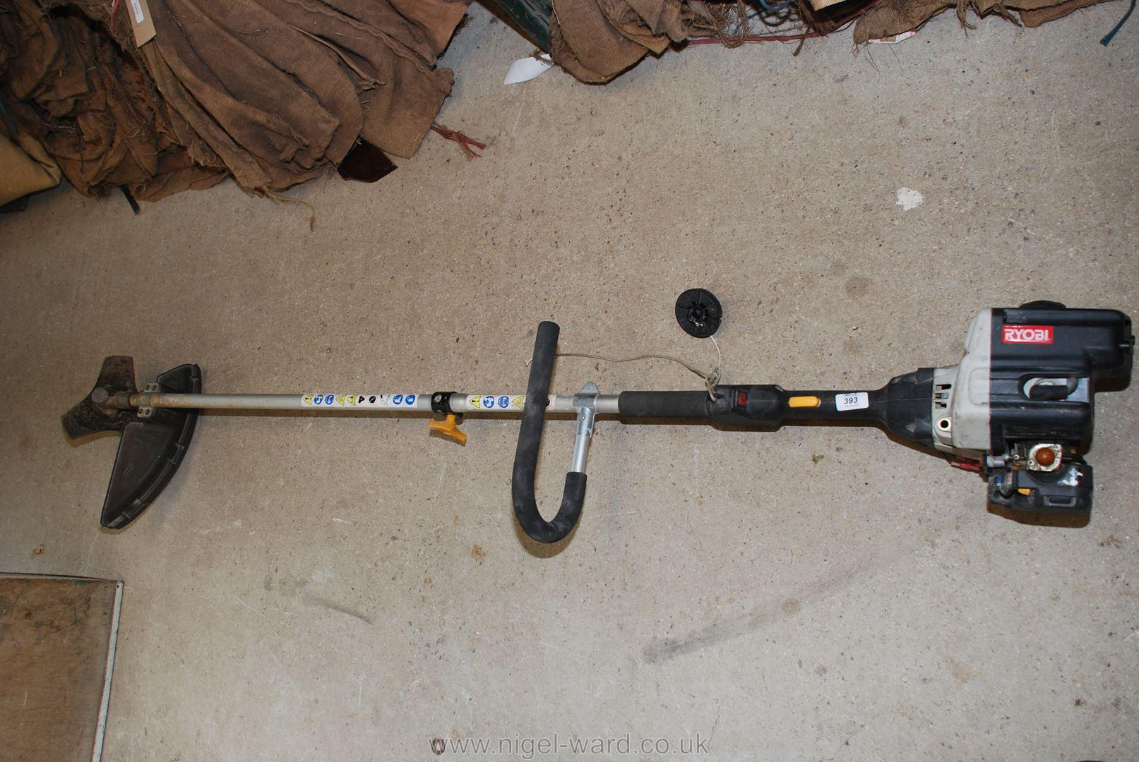A Ryobi PCB 3020 30cc petrol Brush cutter.
