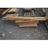 A pallet of various rough sawn timber.