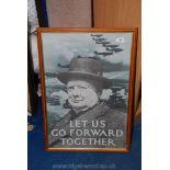 A Winston Churchill print.