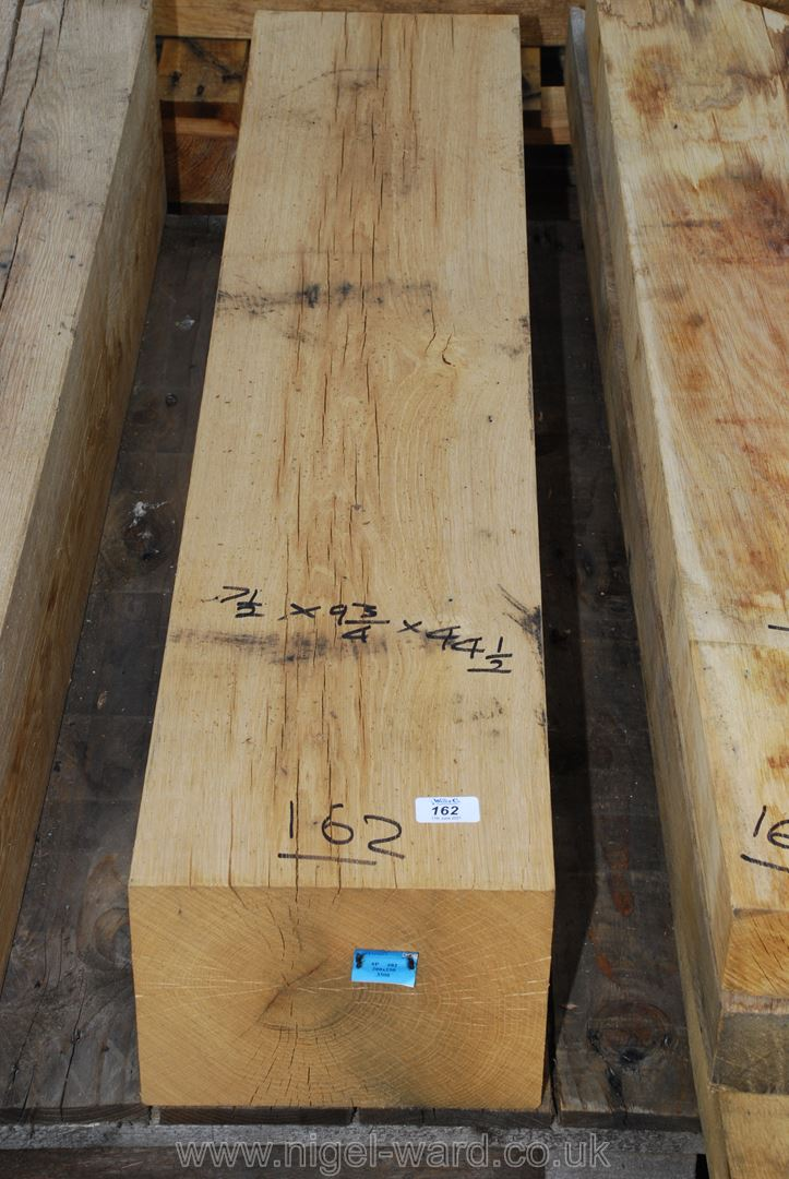 A piece of Oak, 7 1/2'' x 9 3/4'' x 44 1/2'' long.