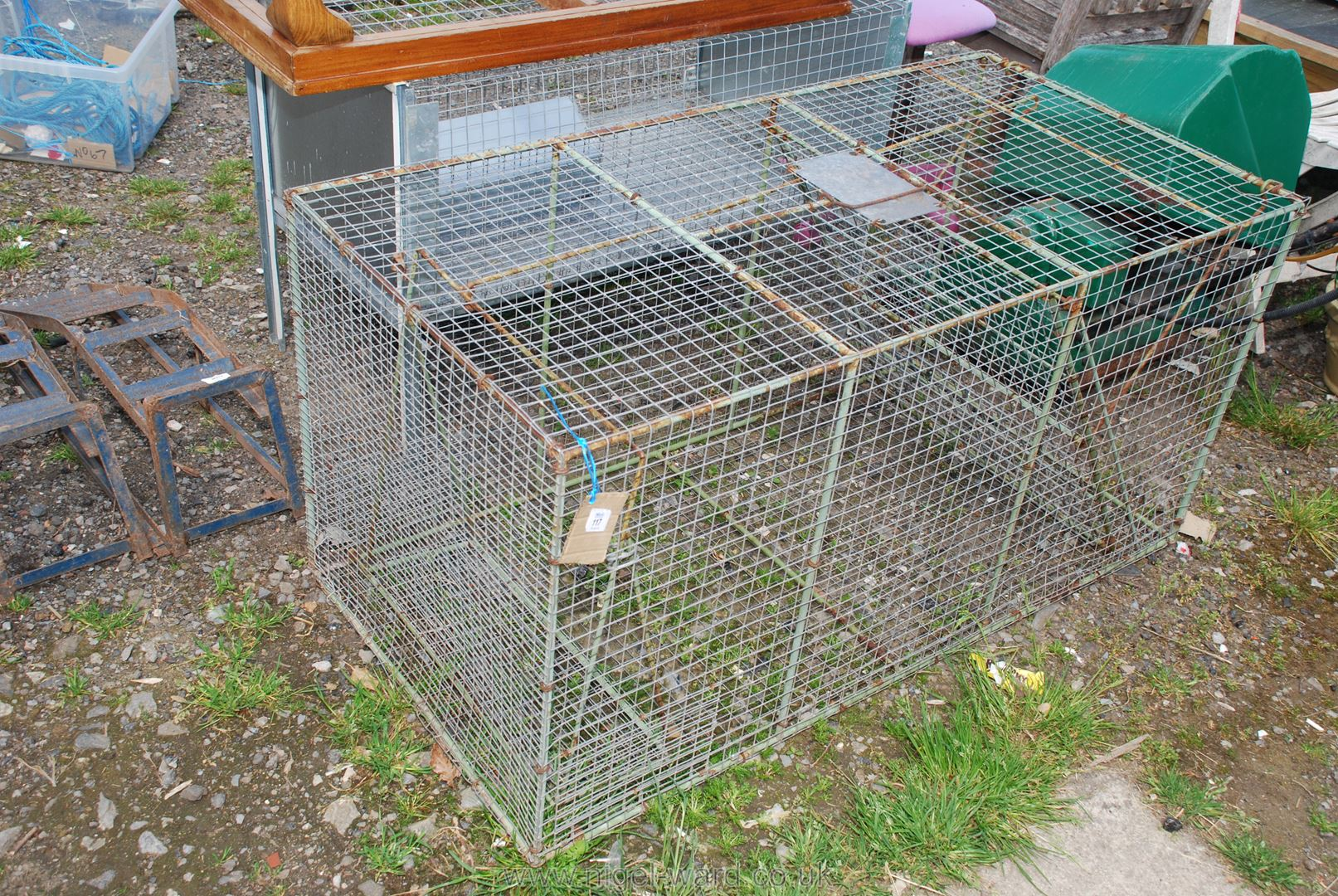 A large fox trap.