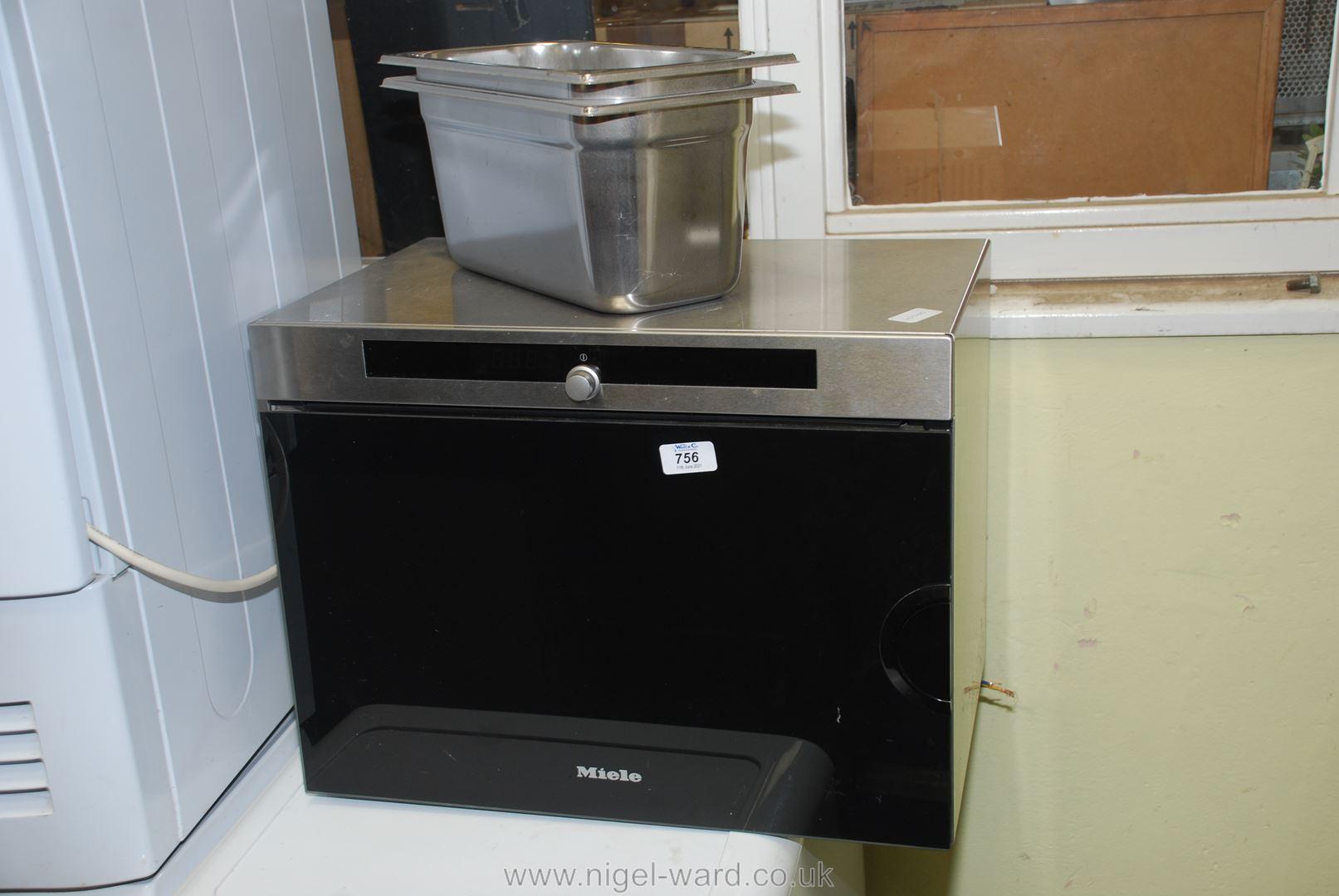 A Miele steam oven.