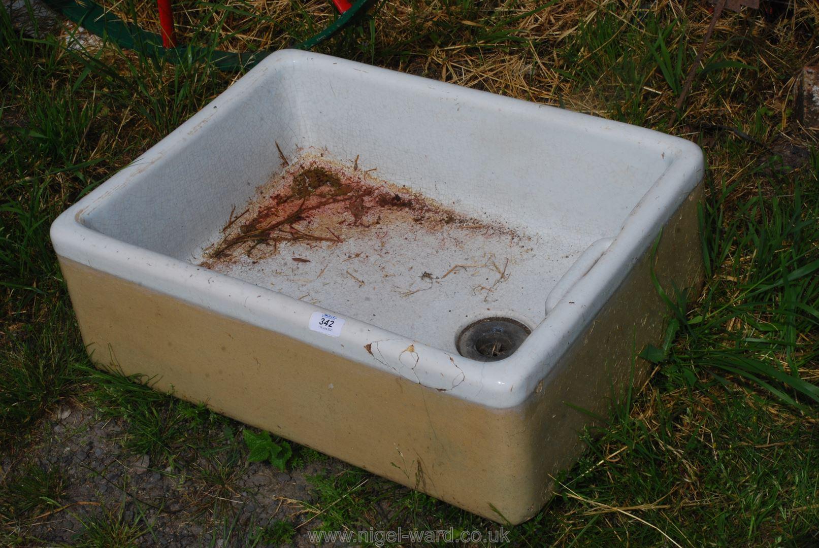 A Belfast sink.