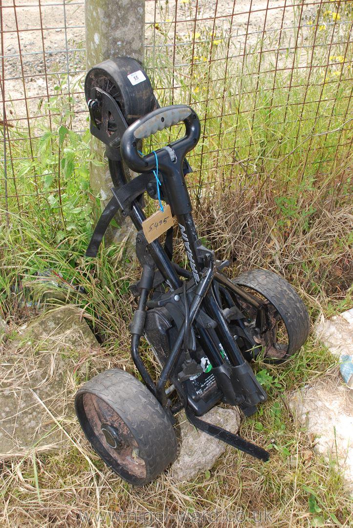 A golf trolley.