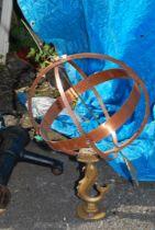 An Armillary sundial.