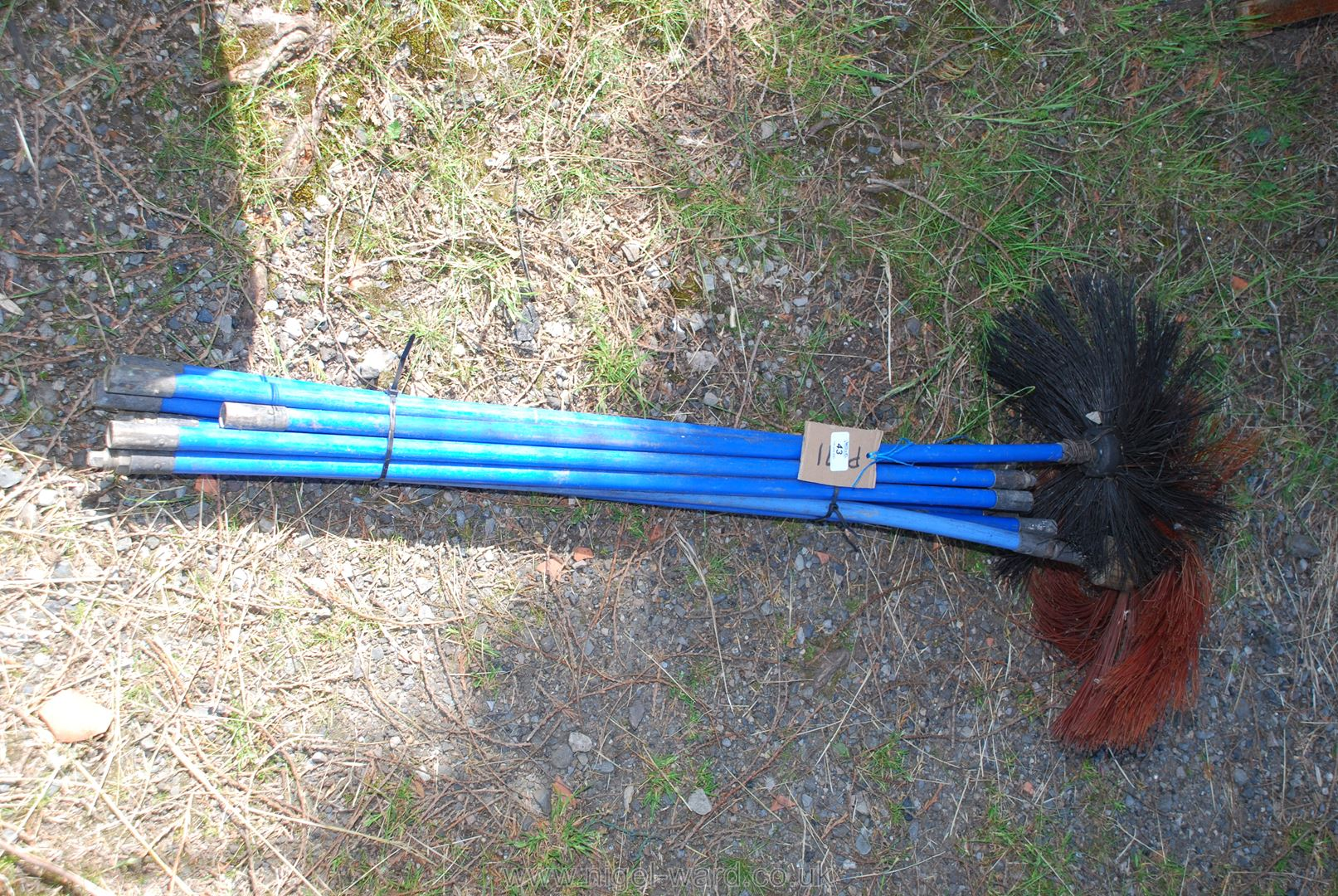 A set of nylon Sweeps brushes.