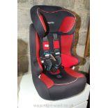 A child car seat.