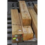 Three pieces of Oak - one 6 3/4'' x 6'' x 31'' long,