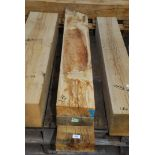 Three pieces of Oak, all 7 3/4'' x 2 3/4'' and 43'', 44'' and 55 1/2'' long.