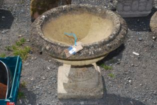A garden Urn, 23'' diameter x 19'' high.