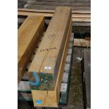 Two pieces of Oak timber, 6'' x 5 1/4'' x 44'' long.
