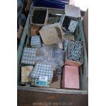 A tray of various screws, boxed screws etc.