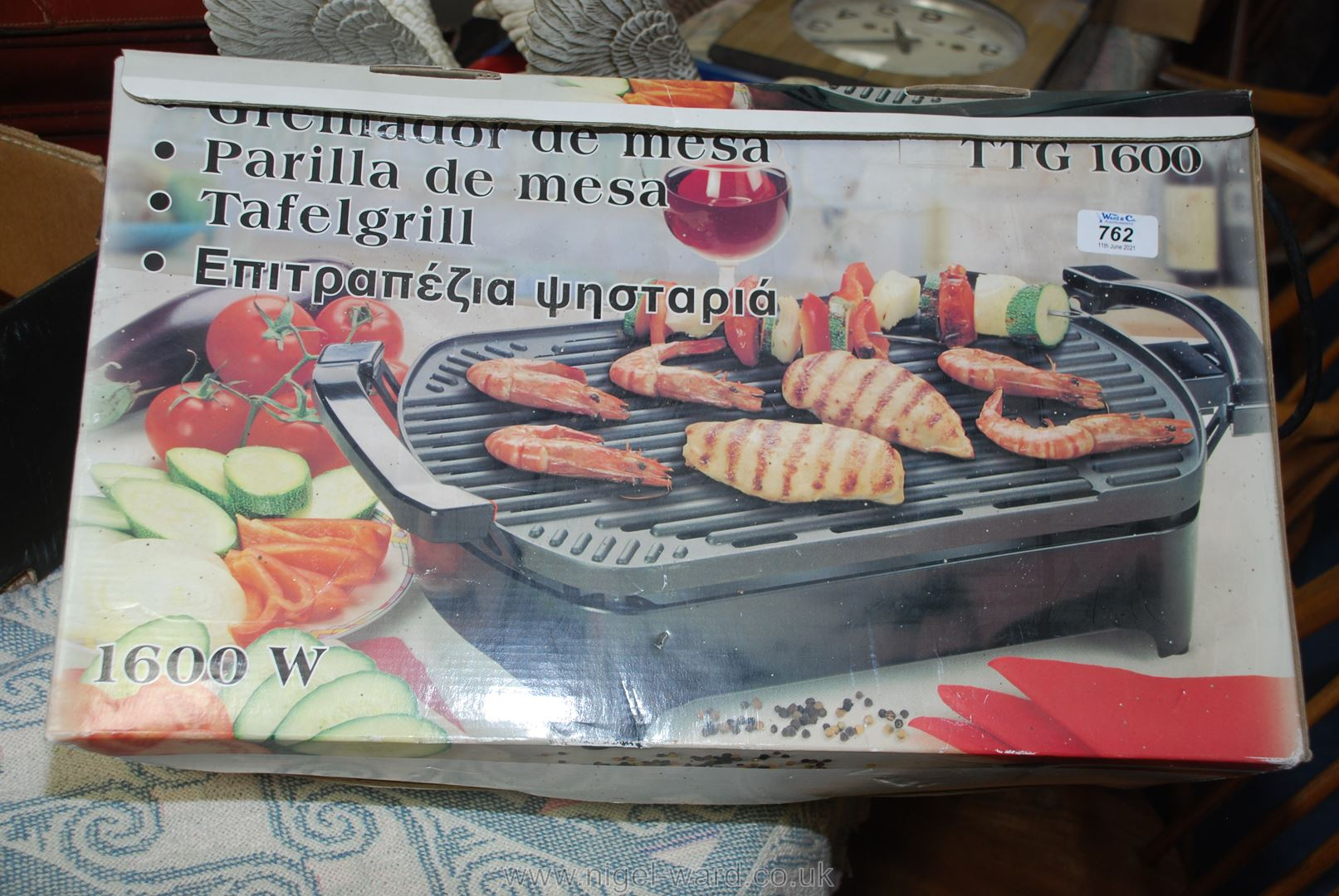 A new boxed electric BBQ/grill.