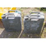 Two UK military Jerry Cans dated 1951 and 1953.