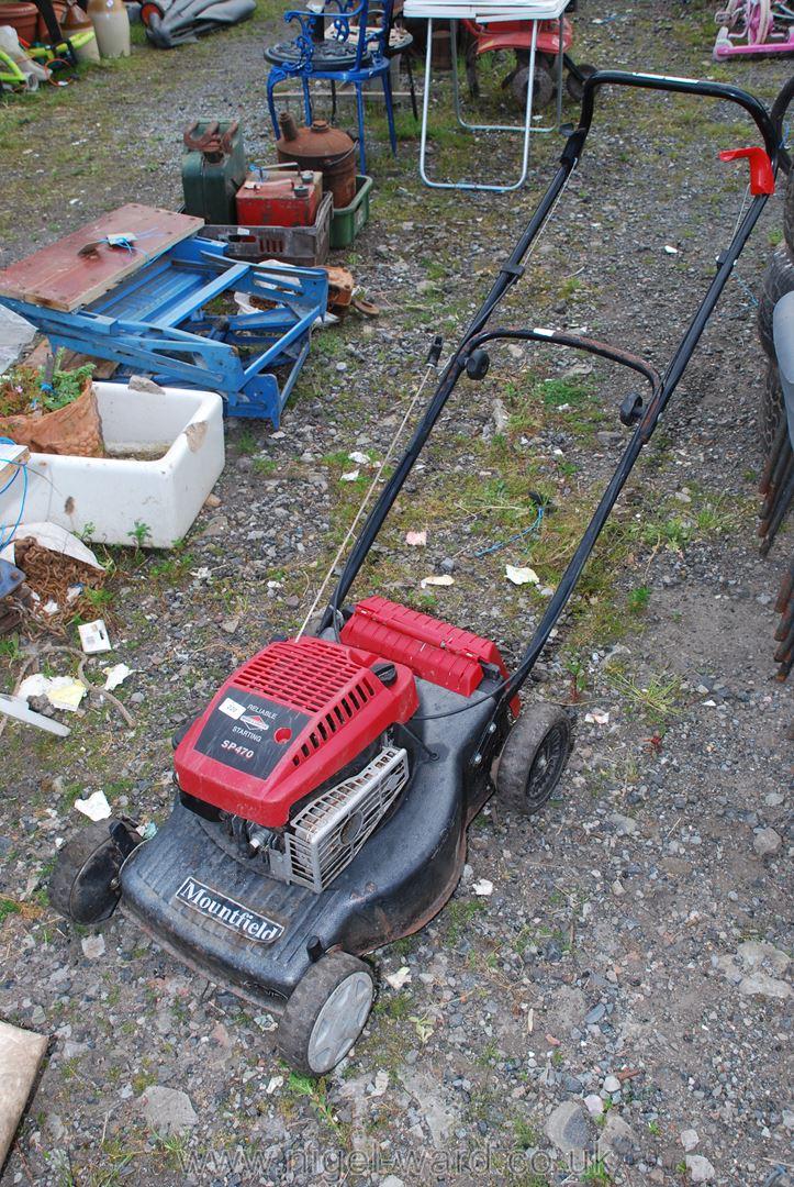 A Mountfield SP470 petrol Lawnmower, self driven.