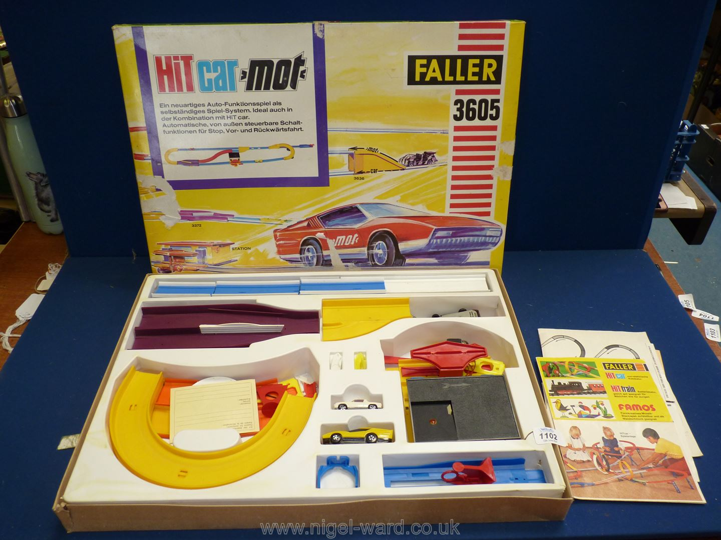 A boxed ''Faller 3605'' HIT car - mot toy race track with cars - all complete.