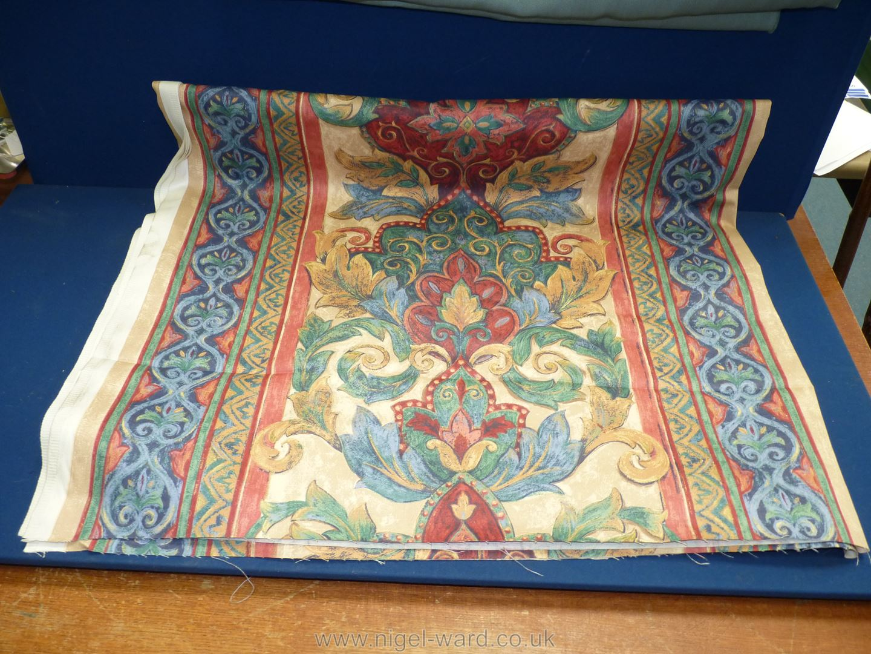 "A pale blue cotton fabric, 88"" long, - Image 3 of 3"