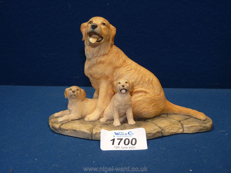 A Border Fine Arts figure of Labrador and pups.