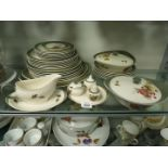 A part Wedgwood 'Covent Garden' dinner service including two lidded tureens and graduated meat