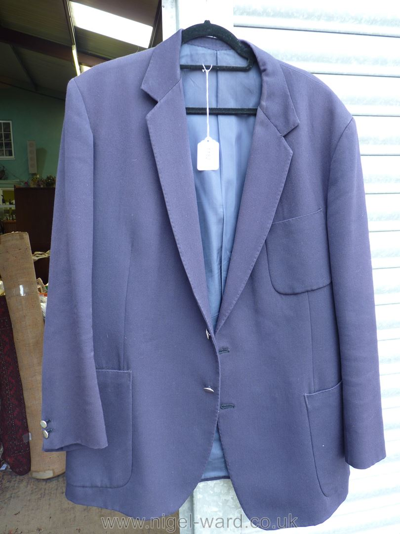 A gent's navy blue Jacket by John Pannifer, London, with patch pockets and double button cuffs.