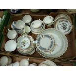 A quantity of china including Portmeirion flan dish,