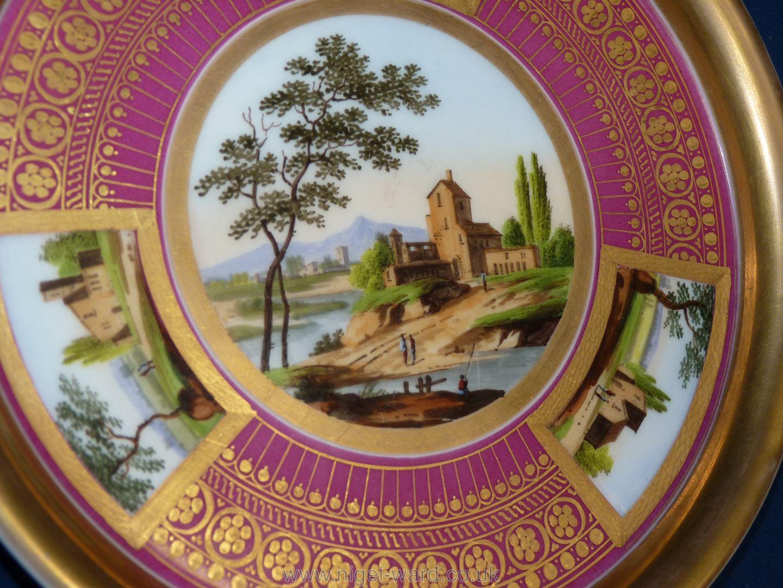 A good Paris porcelain stand circa 1820, - Image 2 of 3