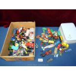 Two trays of mixed vintage toy cars.