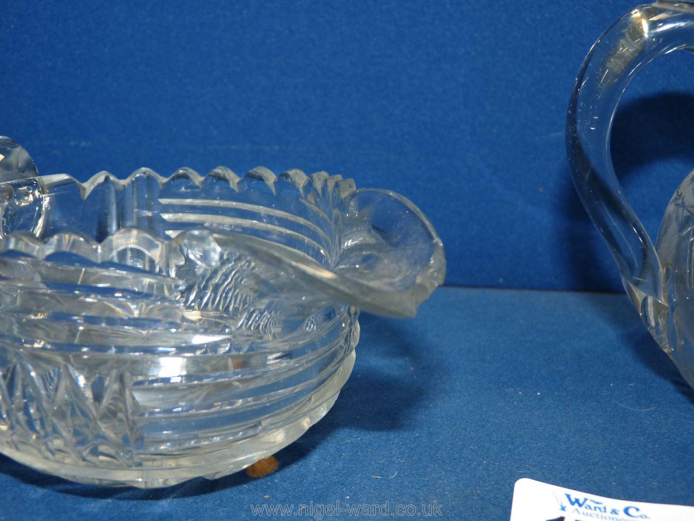 Two Regency cut glass cream jugs. - Image 2 of 2