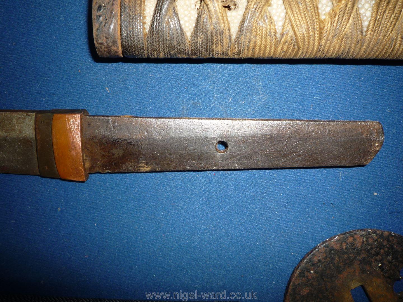 A remarkably sharp edged Samurai Sword/Katana, the blade rust marked, - Image 20 of 22