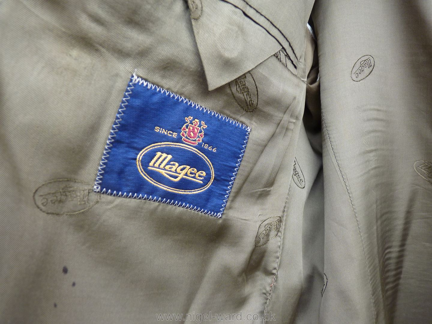 A gent's Magee checked sports Jacket in tan, - Image 2 of 2
