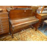 """A presentable Mahogany cased Upright Piano by """"Firth Bros."""