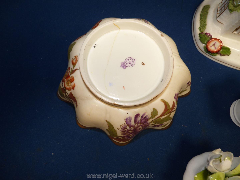 A quantity of china to include Coalport Countryware jam pot, Coalport Church Pastile burner, - Image 4 of 5