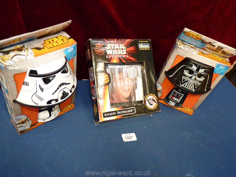 Star Wars: stacking meal set x 2; Episode 1 Anakin Skywalker puzzle. - Image 2 of 2