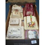 A quantity of butter dishes, stilton dome etc various decorations, Royal Staffordshire,