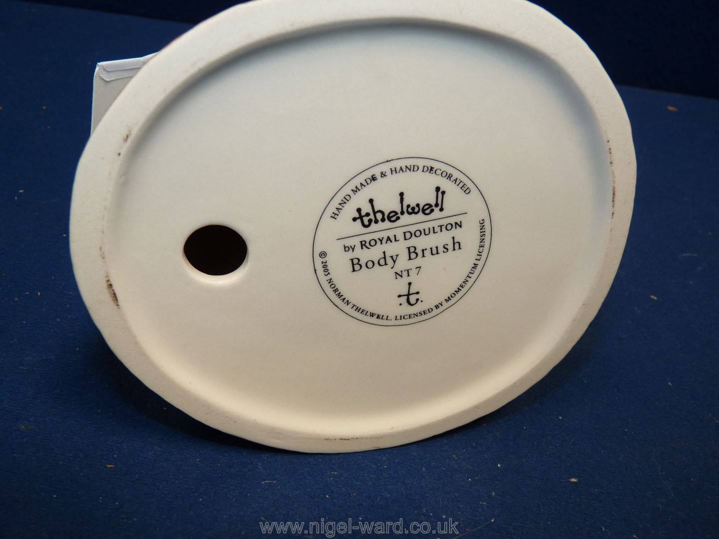 A boxed Royal Doulton Thelwell figure 'Body Brush', 5 1/2'' tall. - Image 2 of 2