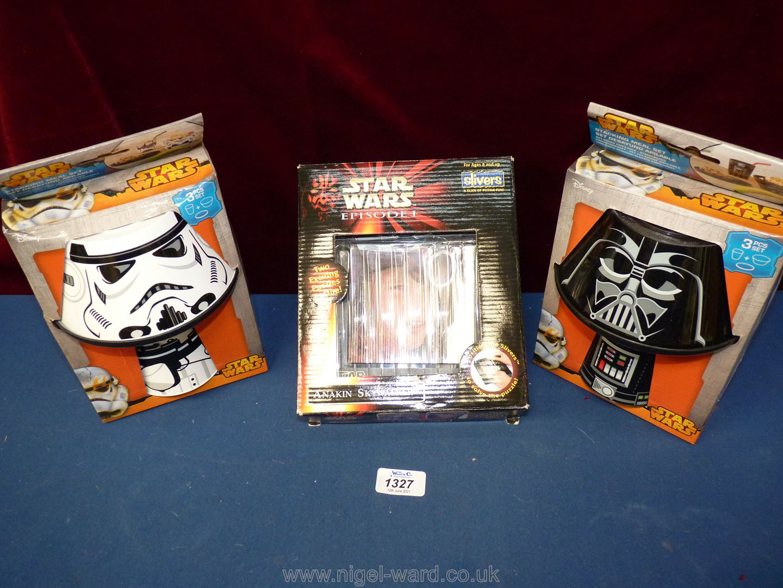 Star Wars: stacking meal set x 2; Episode 1 Anakin Skywalker puzzle.