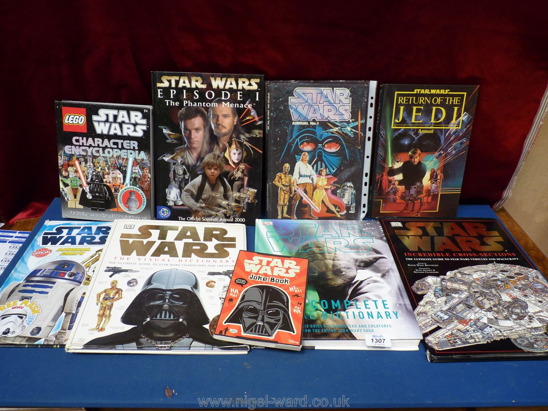 Six Star Wars annuals and three Star Wars catalogues.