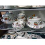 A good quantity of Royal Worcester 'Evesham' dinner ware including lidded tureens, ramekins,