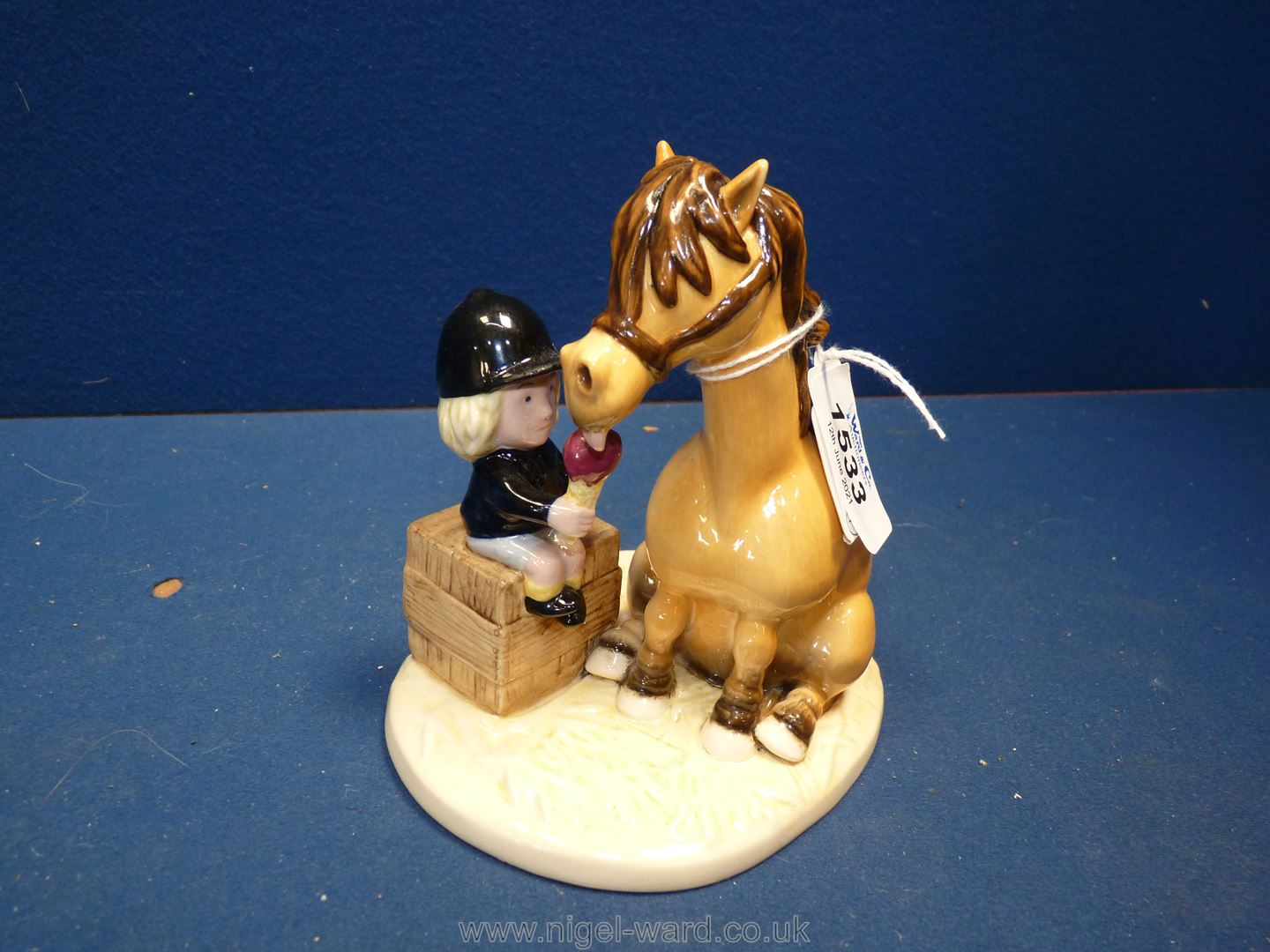A boxed Royal Doulton Thelwell figure 'Ice Cream Treat', 5 1/4'' tall.