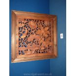 """A highly decorative hardwood Carving, 14 """" x 14"""" approx."""