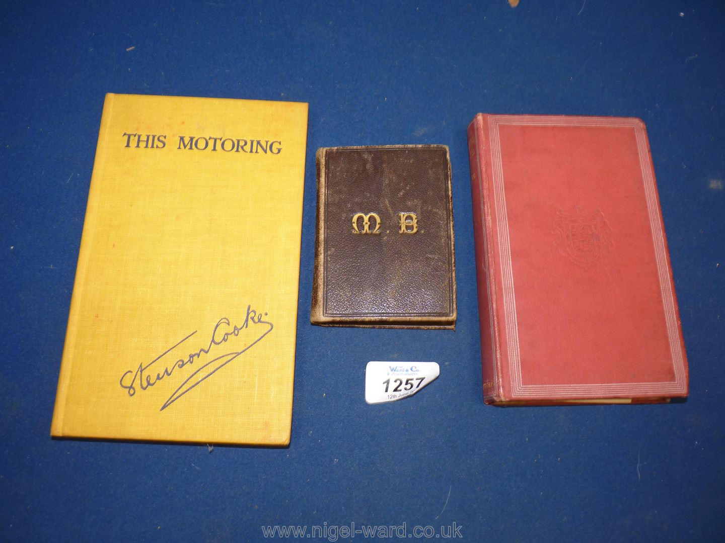 A leather clad and gold initialled folding map of Herefordshire, - Image 2 of 2
