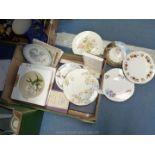 A quantity of souvenir and commemorative plates including Royal Doulton Spanish Armada 400th