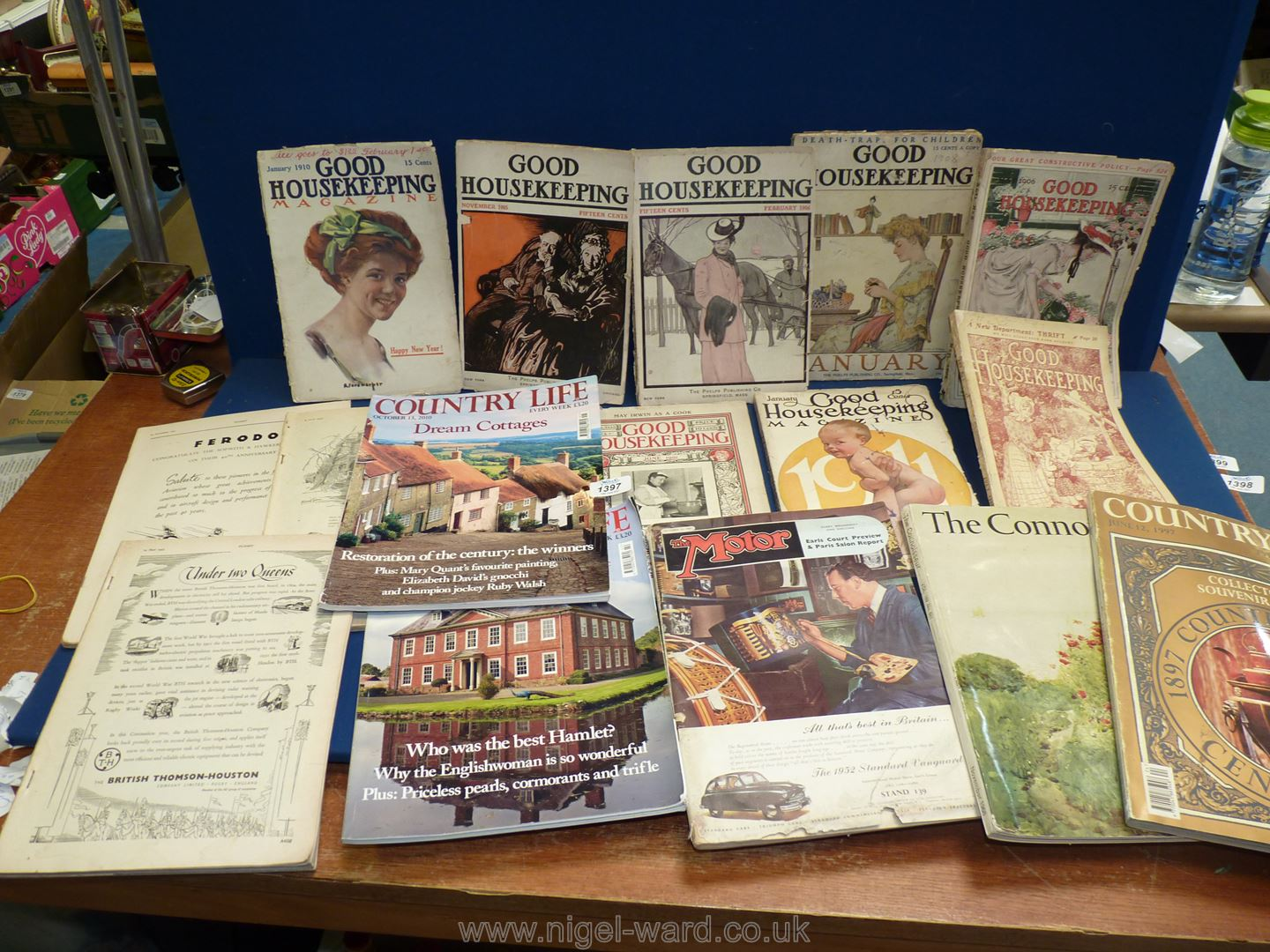 A quantity of Good Housekeeping magazines - eight monthly issues between 1901 and 1911,