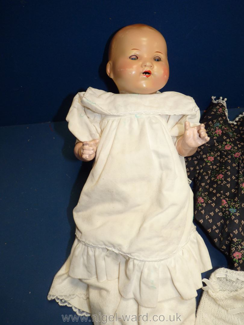 """An Armand Marseille German 551-121/2K doll having bisque head, 16"""" tall, - Image 2 of 2"""