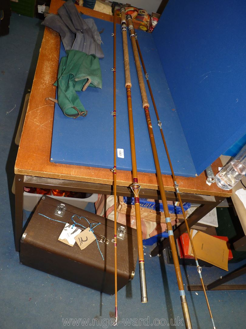 A Sealey of Redditch two piece coarse rod,