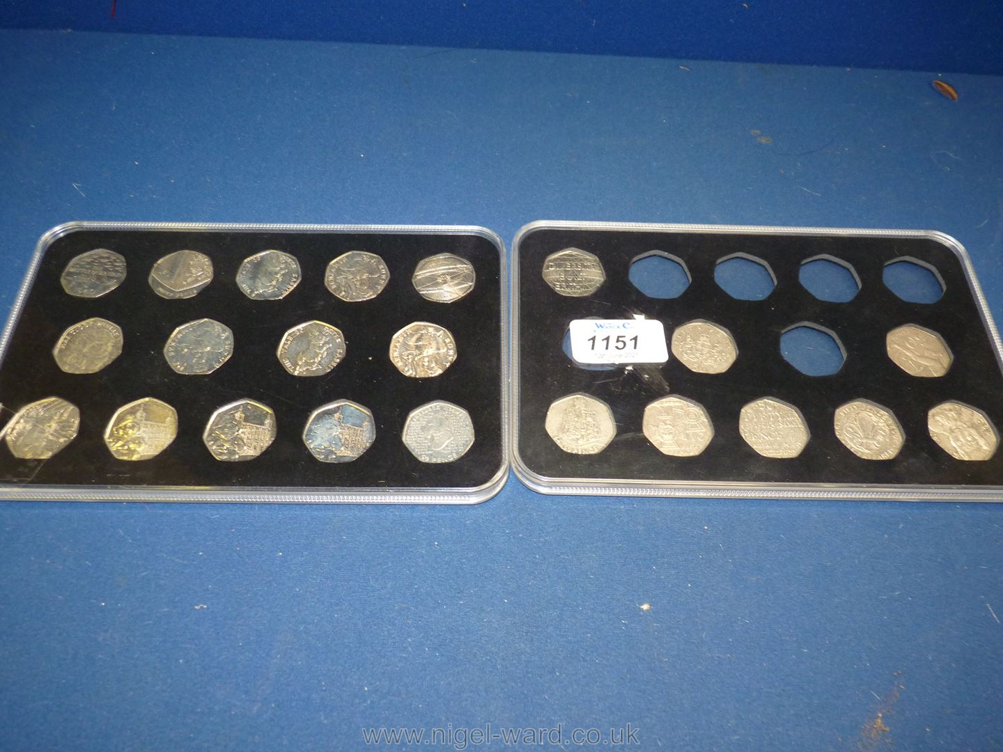 One full and one part case of 50 pence pieces including Olympics Peter Rabbit, Paddington Bear,